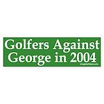 Golfers Against George Bush Sticker
