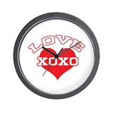 Collegiate Love Valentine Wall Clock