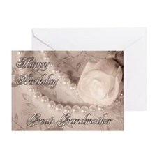 For great grandmother, birthday card with pearls G