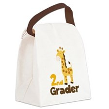 2nd Grader giraffe Canvas Lunch Bag