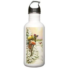 Vintage Christmas Mail Water Bottle