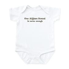 One Afghan Hound Infant Bodysuit
