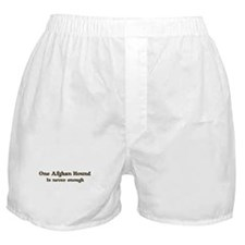 One Afghan Hound Boxer Shorts