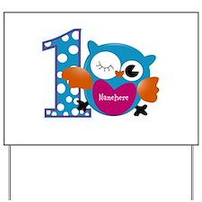 Customized Owl First Birthday Yard Sign
