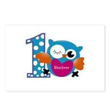Customized Owl First Birthday Postcards (Package o