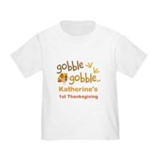 Personalized 1st Thanksgiving Turkey T