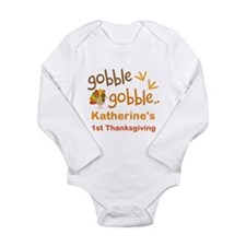 Personalized 1st Thanksgiving Turkey Baby Outfits