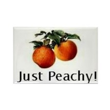 Just Peachy Rectangle Magnet