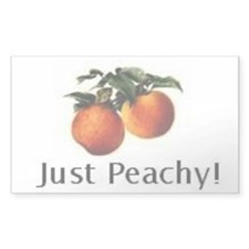 Just Peachy Rectangle Decal