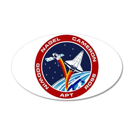 STS-37 A 20x12 Oval Wall Decal