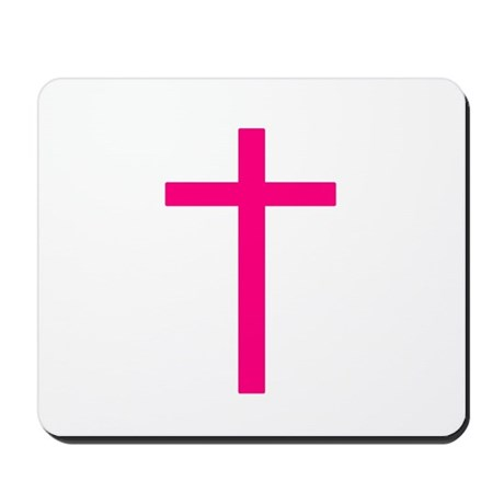 Pink Cross Mousepad