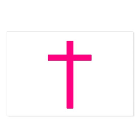 Pink Cross Postcards (Package of 8)