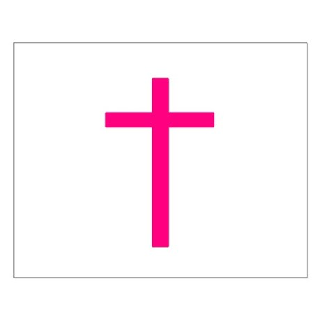 Pink Cross Small Poster