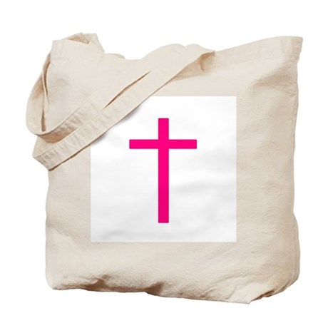 Pink Cross Tote Bag