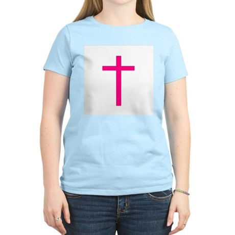 Pink Cross Women's Pink T-Shirt