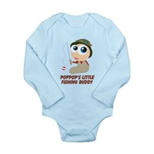 Personalized Fishing Buddy Long Sleeve Infant Body