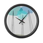 Mod Min AAB Large Wall Clock