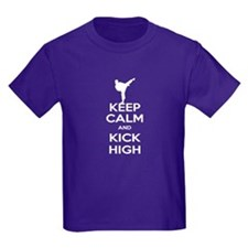 Keep Calm Kick High Girl T