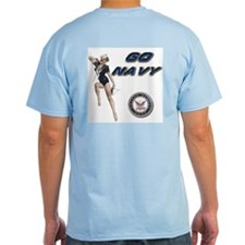 USN Go Navy Ash Grey T-Shirt