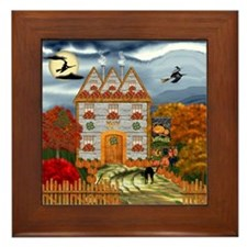 Samhain Cottage Framed Tile