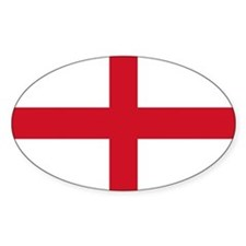 St George Cross England flag Oval Decal
