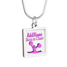 TOP CHEERLEADER Silver Square Necklace