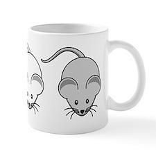 Black White & Grey Mouse Trio Small Mug