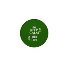 Keep Calm and Hike On Mini Button (10 pack)