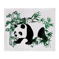 Panda in the Bamboo Forest Throw Blanket