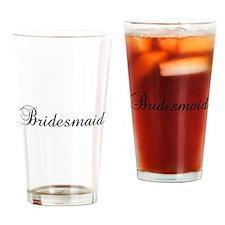 Bridesmaid Black Drinking Glass