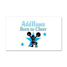 #1 CHEERLEADER Car Magnet 20 x 12