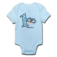 Customized Owl First Birthday Infant Bodysuit