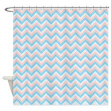 Peach And Gray Chevron Shower Curtains Peach And Gray
