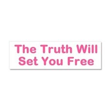 Truth WIll Set You Free Car Magnet 10 x 3