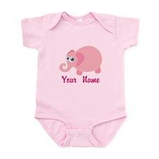 Personalized Baby Elephant Infant Bodysuit