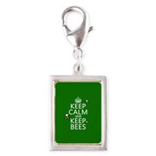 Keep Calm and Keep Bees Charms