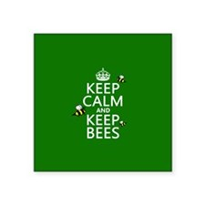 Keep Calm and Keep Bees Sticker