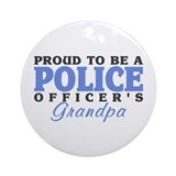 Officer's Grandpa Ornament (Round)