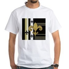 Gold and multi black fleur de T-Shirt