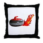 Flaming Rock Throw Pillow