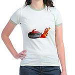 Flaming Rock Jr. Ringer T-Shirt