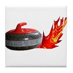 Flaming Rock Tile Coaster