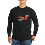 Flaming Rock Long Sleeve Dark T-Shirt