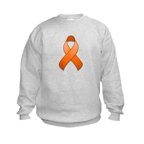 Orange Awareness Ribbon Kids Sweatshirt