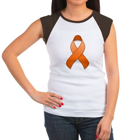 Orange Awareness Ribbon Women's Cap Sleeve T-Shirt