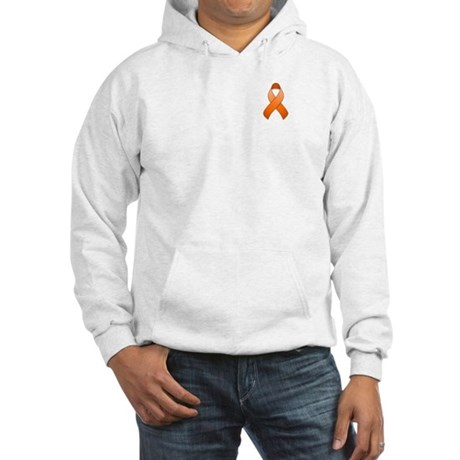 Orange Awareness Ribbon Hooded Sweatshirt