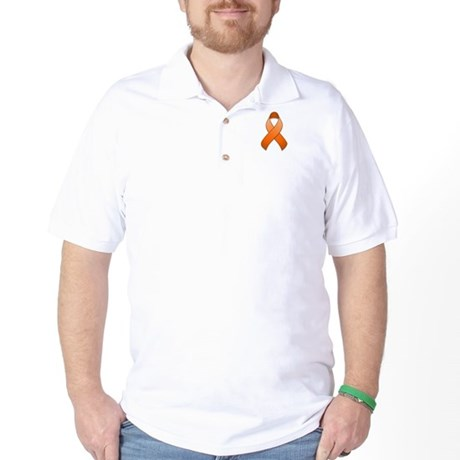 Orange Awareness Ribbon Golf Shirt