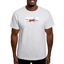 God is my co-pilot Fixed Ash Grey T-Shirt