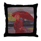 Red Never Looked So Blue Throw Pillow
