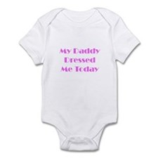 Daddy Dressed Me Infant Bodysuit